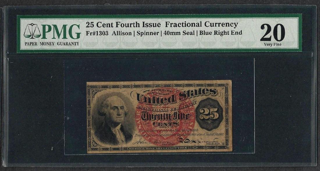 March 3, 1863 Fourth Issue 25 Cent Fractional Currency