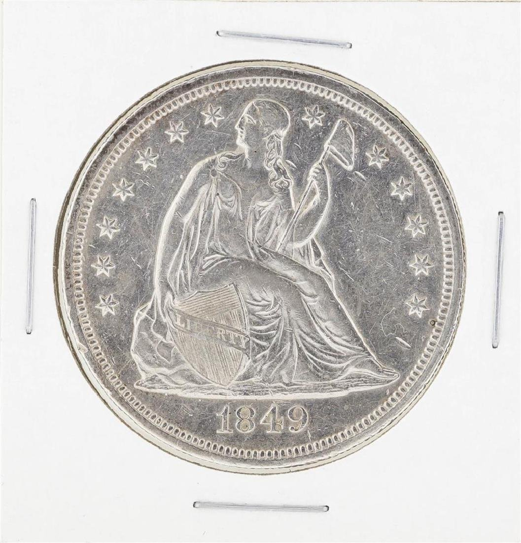 1849 $1 Seated Liberty Silver Dollar Coin