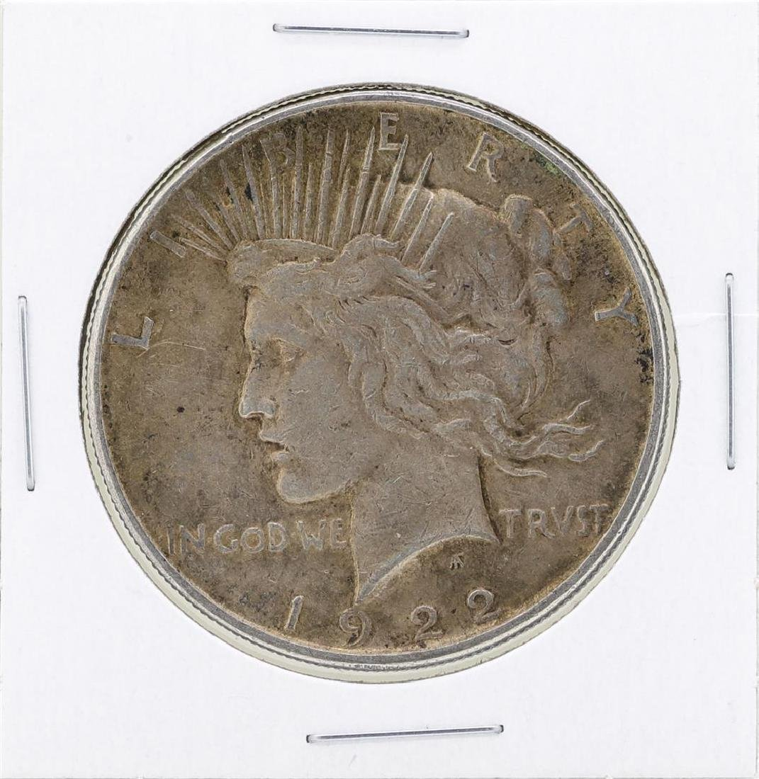 1922 $1 Peace Silver Dollar Coin