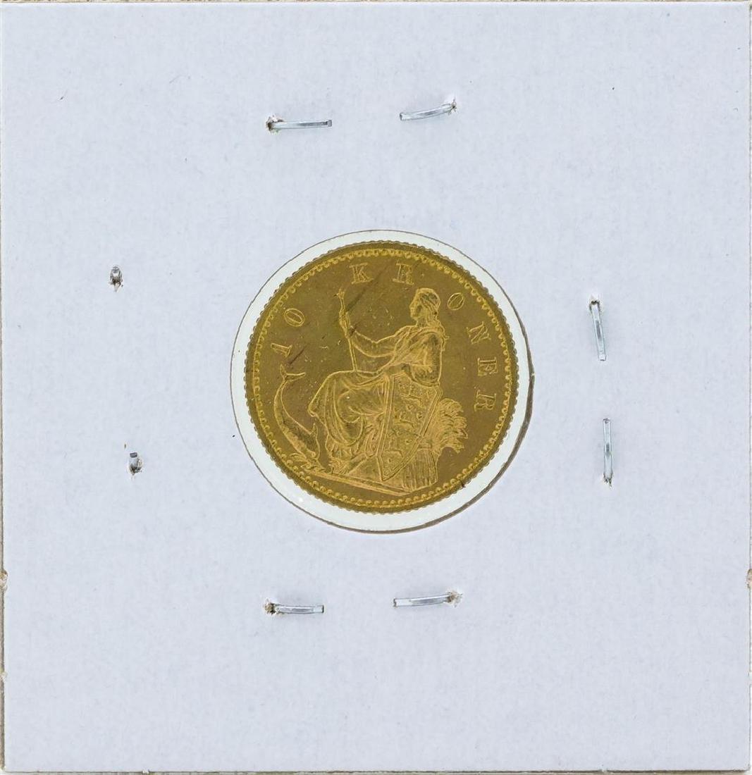 1900 Denmark 10 Kronor Gold Coin - 2