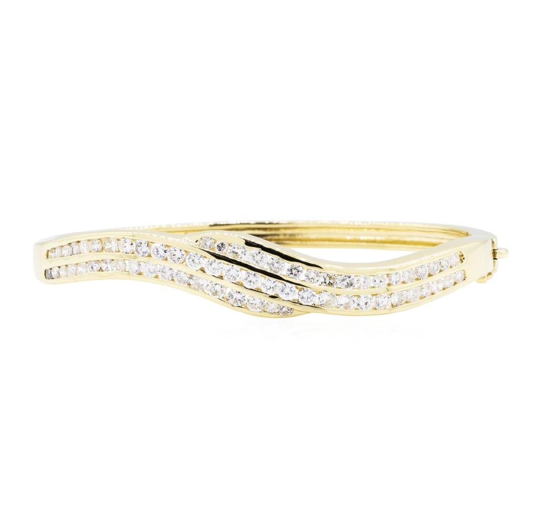 14KT Yellow Gold 3.00 ctw Diamond Bangle Bracelet