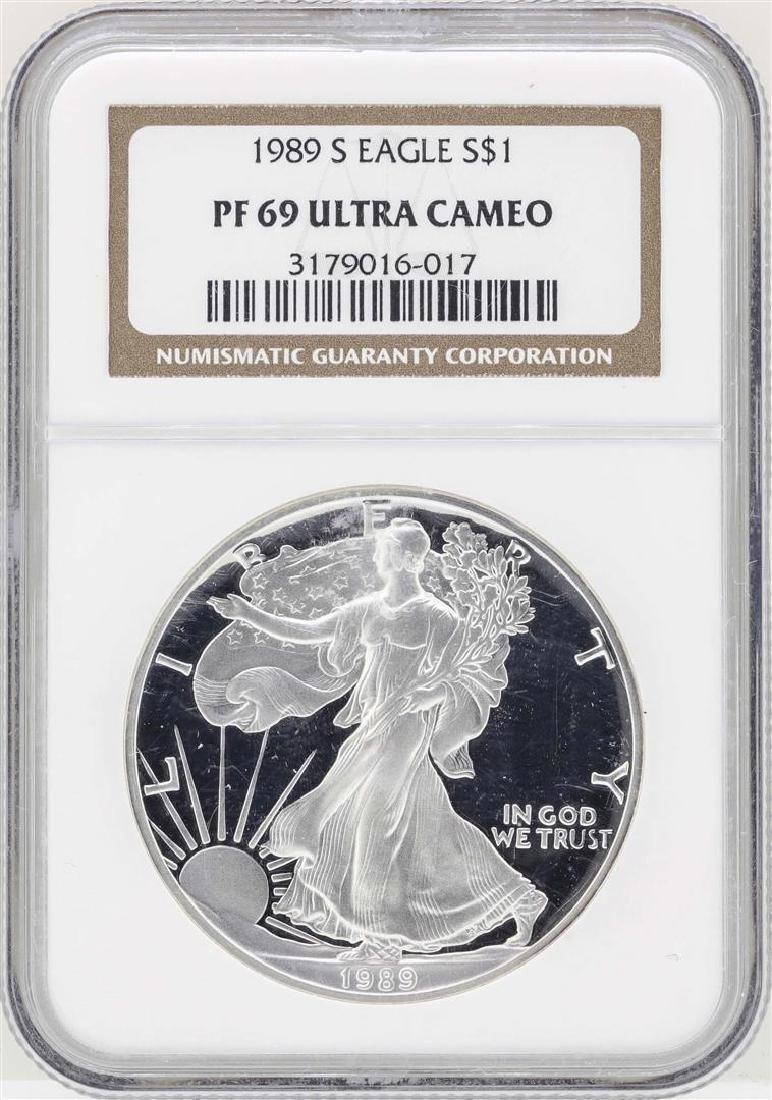 1989 $1 American Silver Eagle Coin NGC PF69 Ultra Cameo