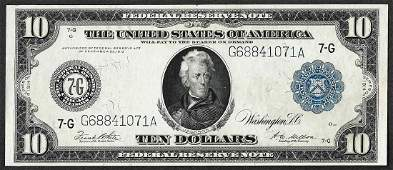 1914 10 Federal Reserve Note Chicago