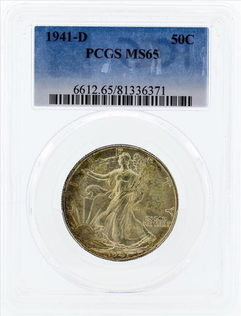 1941-D Walking Liberty Half Dollar Silver Coin PCGS