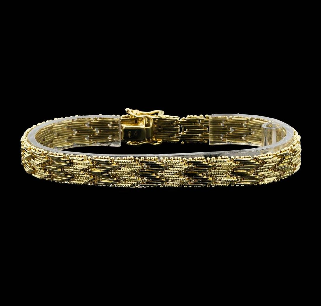 14K Yellow Gold Mesh Design Fashion Bracelet