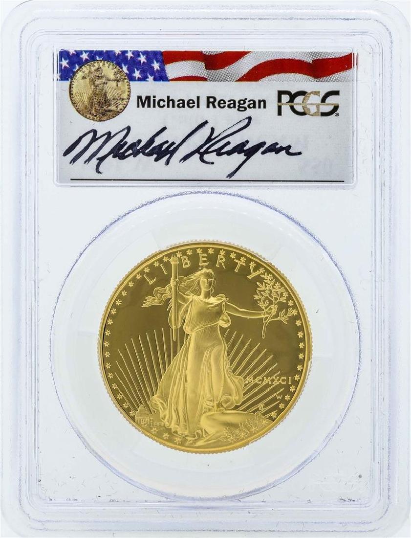 1991-W $50 American Gold Eagle Coin Reagan Legacy