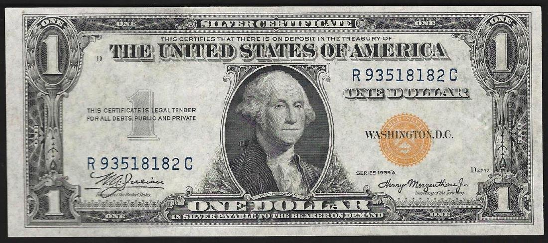 1935A $1 Silver Certificate WWI Emergency North Africa