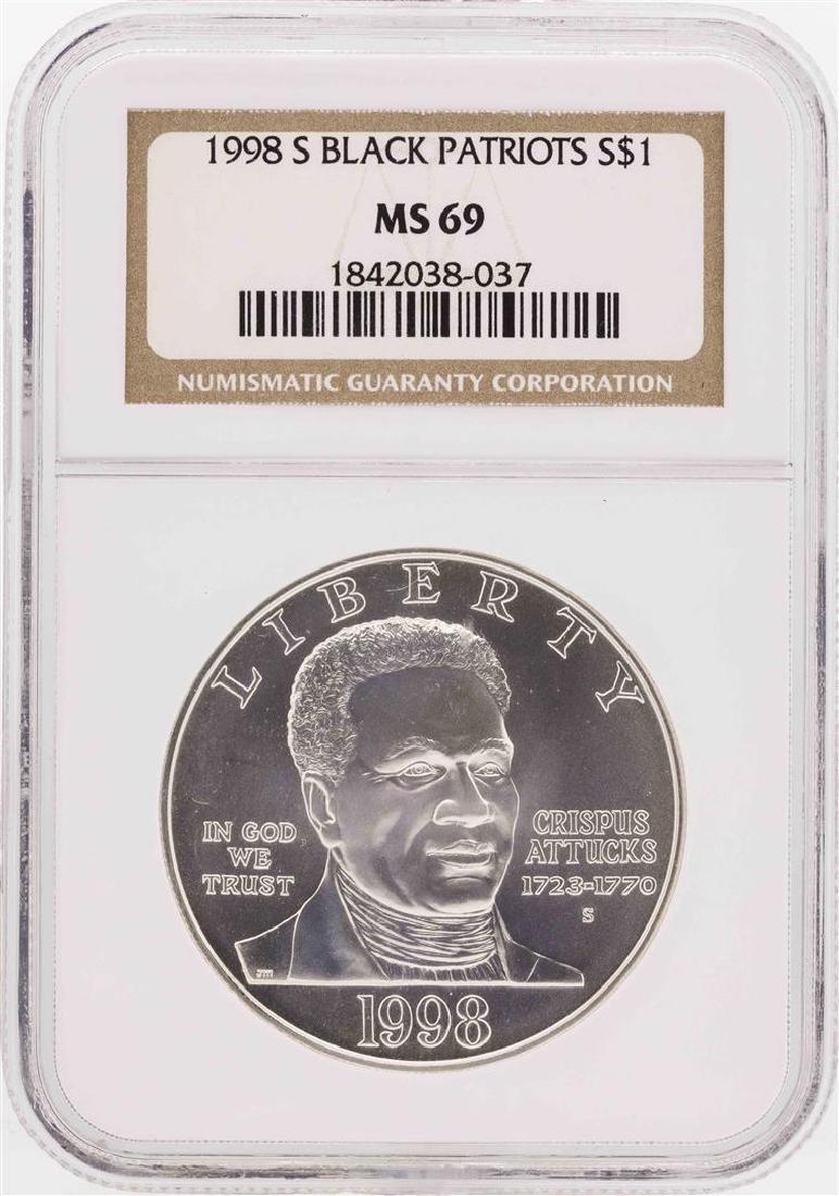 1998-S $1 Black Patriots Commemorative Silver Dollar