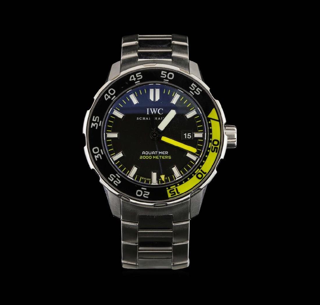 IWC Stainless Steel Aquatimer Wristwatch