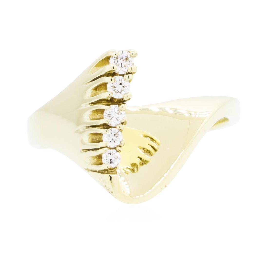 14KT Yellow Gold Lady's 0.10 ctw Diamond Ring