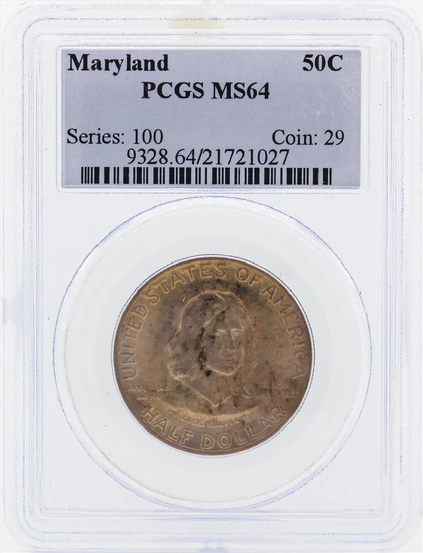 1934 Maryland Commemorative Half Dollar Coin PCGS MS64