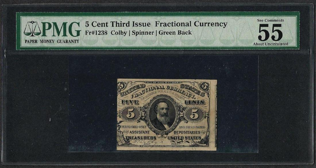 March 3, 1863 Third Issue 5 Cent Fractional Currency