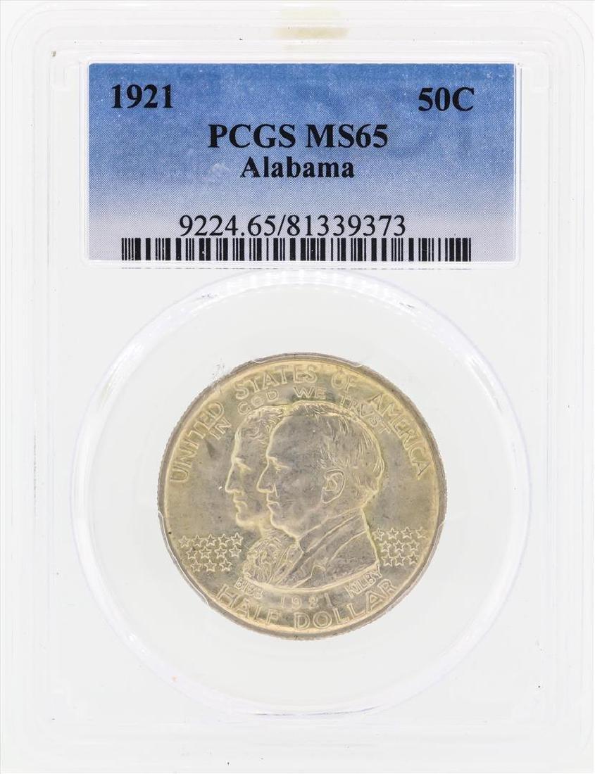 1921 Alabama Commemorative Half Dollar Coin PCGS MS65