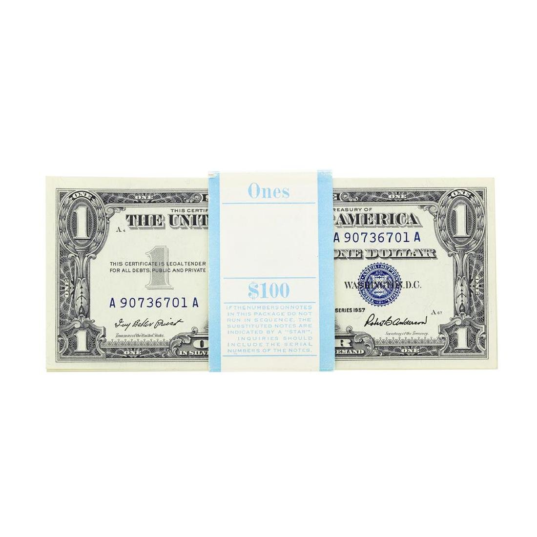 Pack of (100) 1957 $1 Silver Certificate Notes