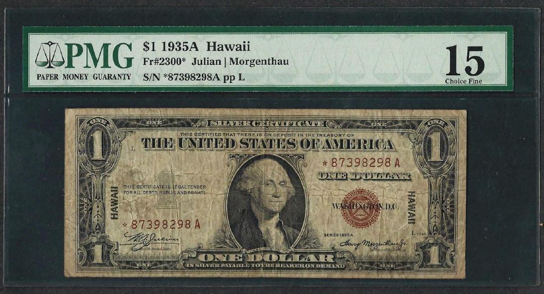 1935A $1 Hawaii Silver Certificate WWII Emergency STAR