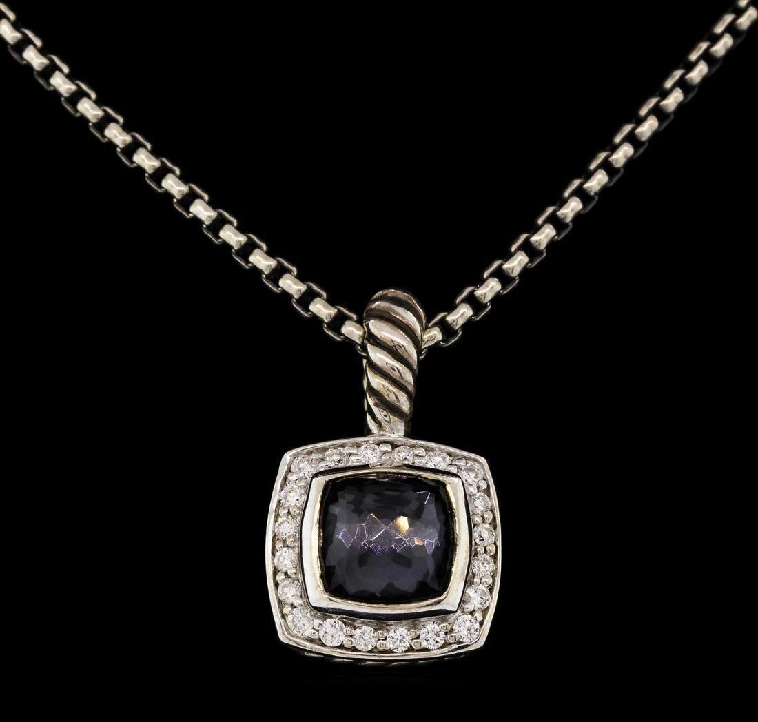 David Yurman .925 Silver 1.50 ctw Quartz and Diamond