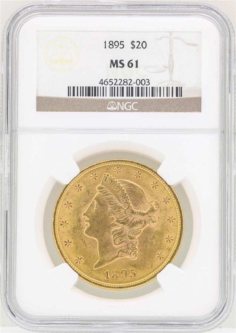 1895 $20 Liberty Head Double Eagle Gold Coin NGC MS61