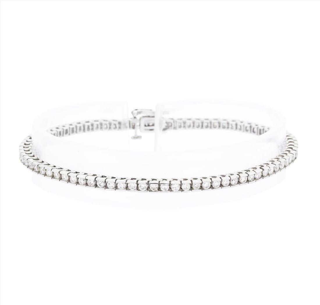 14KT White Gold Ladies 2.00 ctw Diamond Bracelet