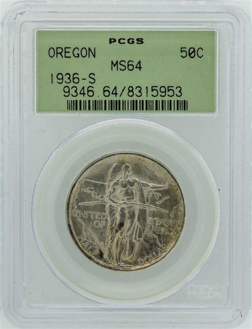 1936-S Oregon Trail Memorial Commemorative Half Dollar