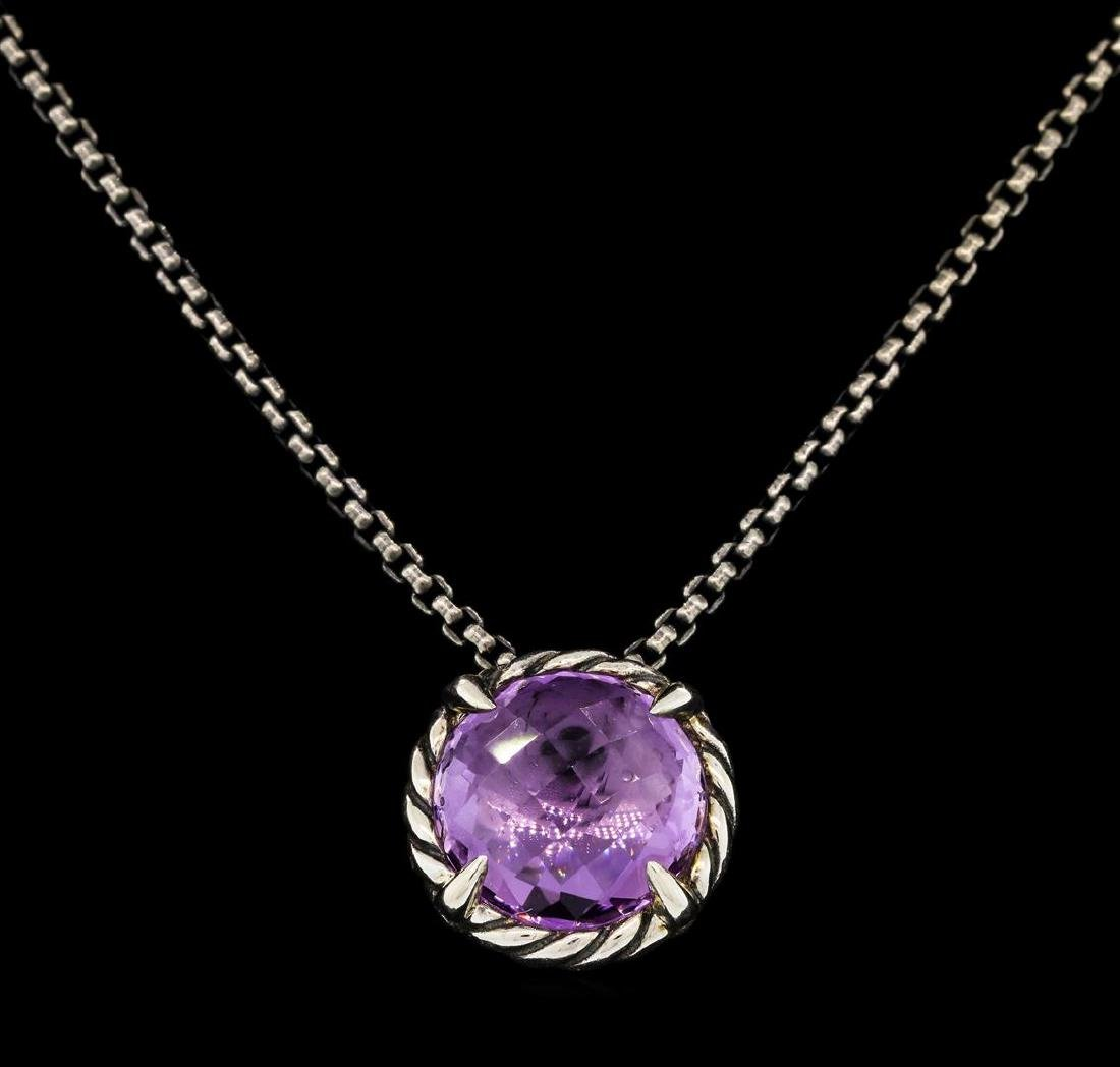 David Yurman .925 Silver 2.00 ctw Amethyst Pendant with
