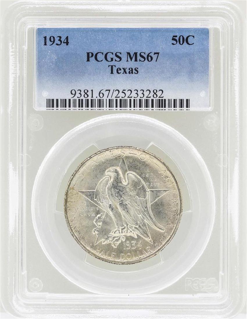 1934 Texas Commemorative Half Dollar Coin PCGS MS67