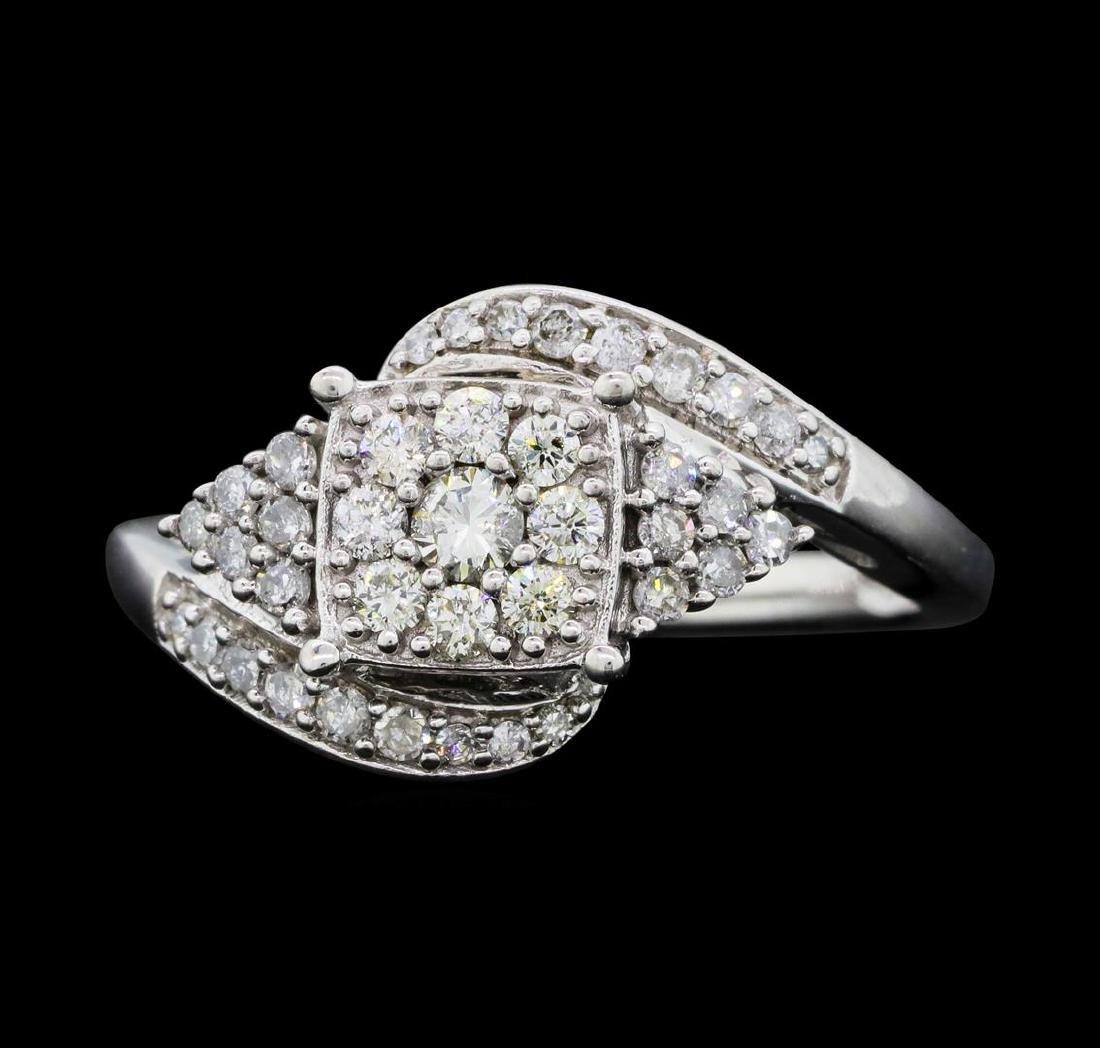 10KT White Gold Ladies 0.50 ctw Diamond Ring