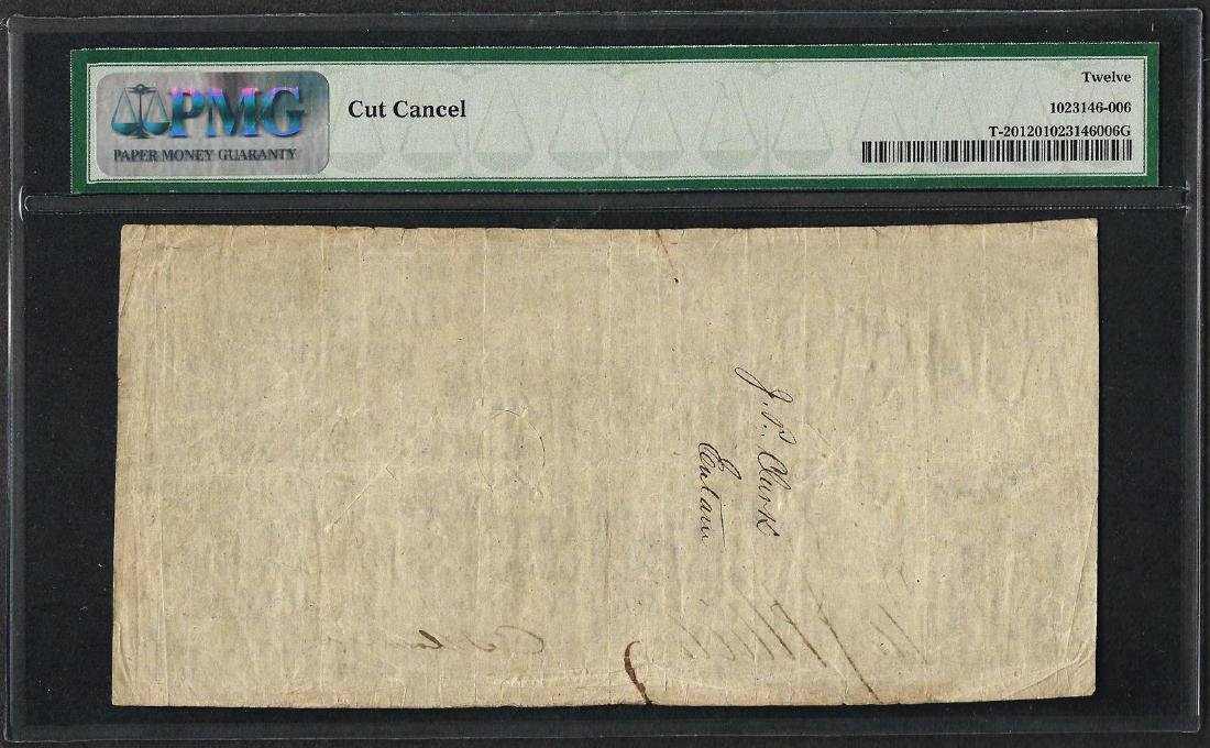 1861 $20 Confederate States of America Note T-20 PMG - 2