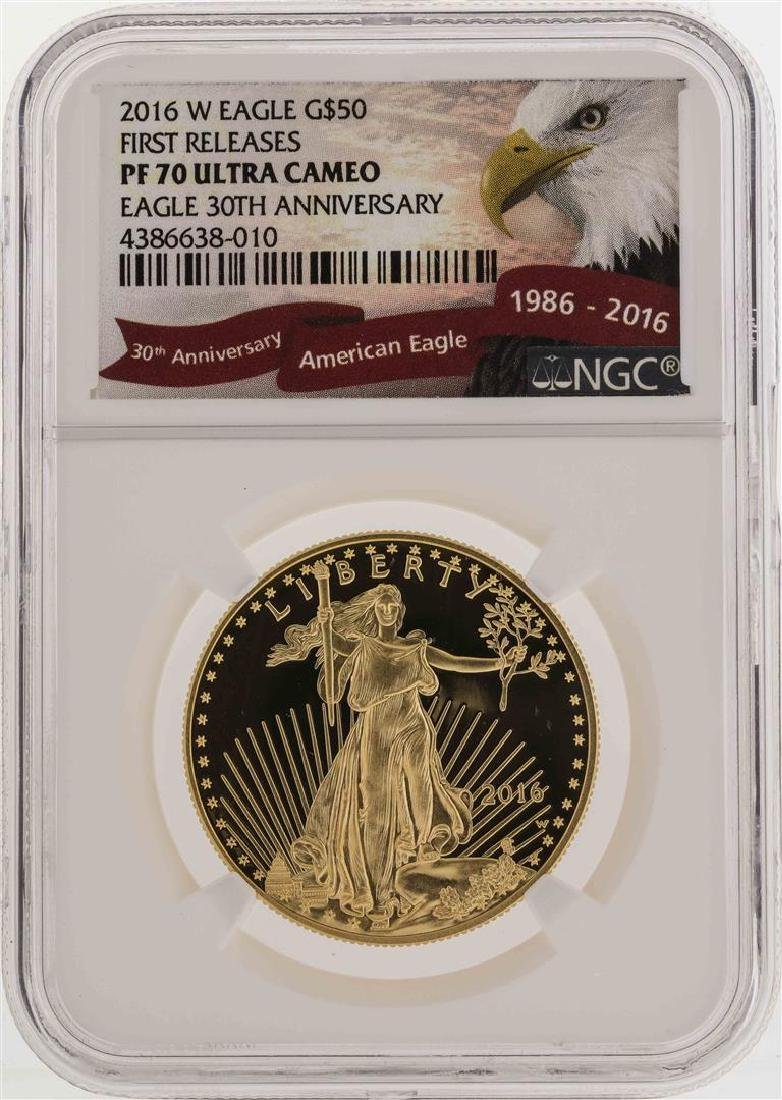 2016-W $50 American Gold Eagle Coin First Releases NGC