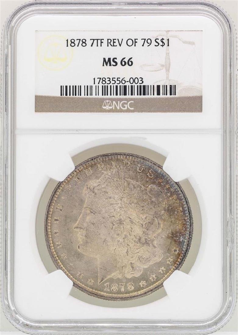 1878 7TF Reverse 79' $1 Morgan Silver Dollar Coin NGC
