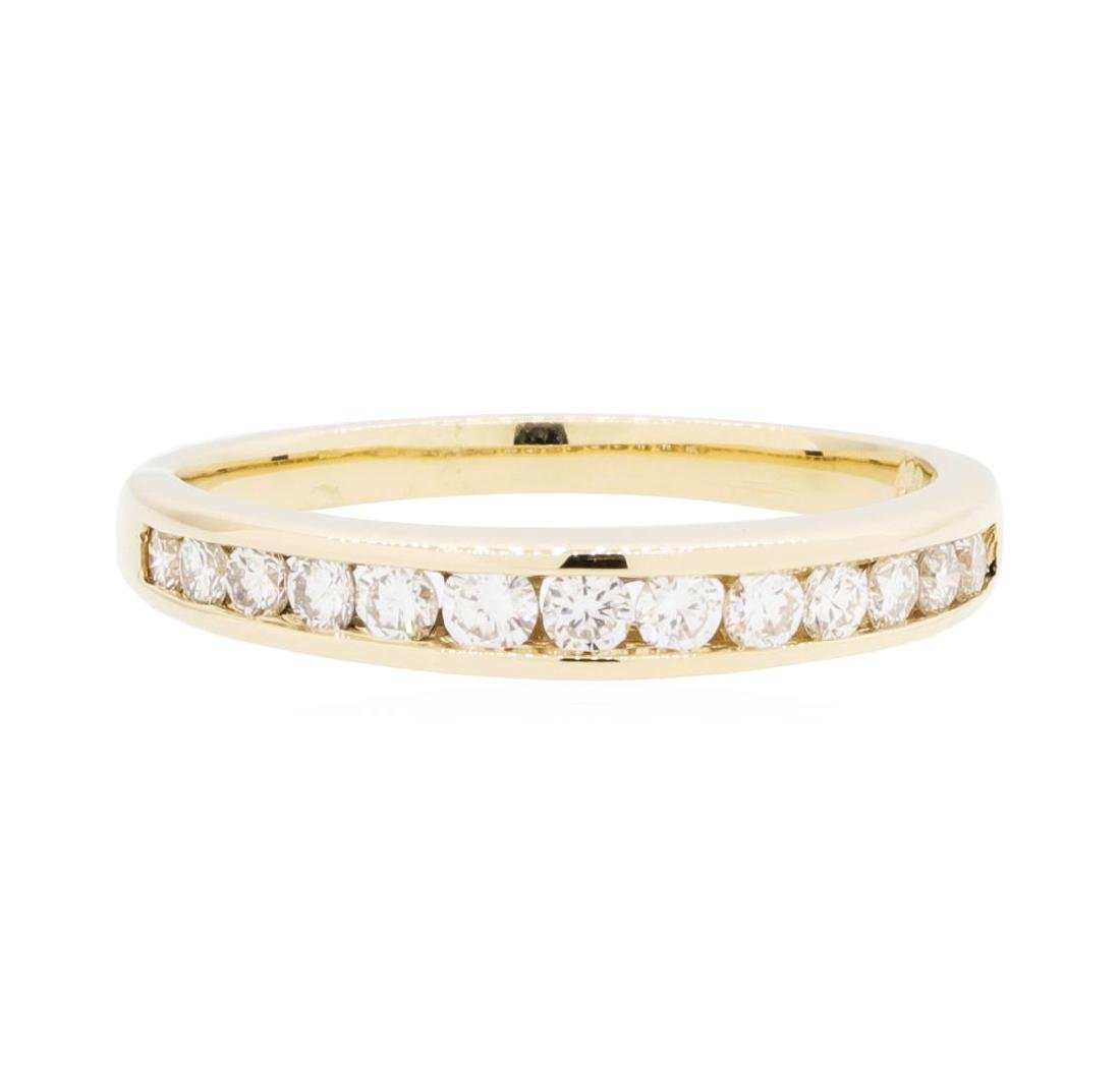14KT Yellow Gold Lady's 0.45 ctw Diamond Channel Band