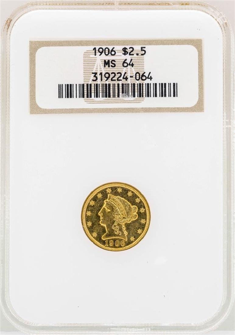 1906 $2 1/2 Liberty Head Quarter Eagle Gold Coin NGC