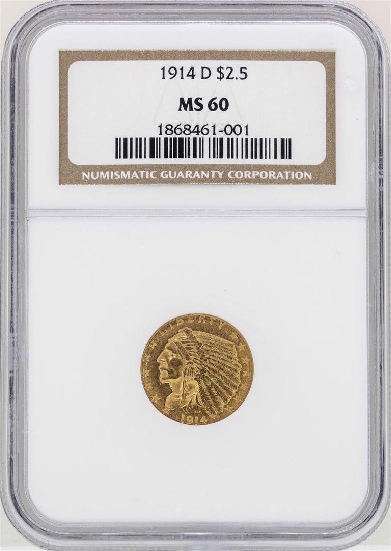 1914-D $2 1/2 Indian Head Quarter Eagle Gold Coin NGC