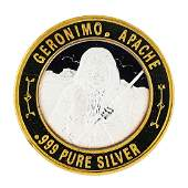 .999 Silver Geronimo Apache $10 Casino Limited Native