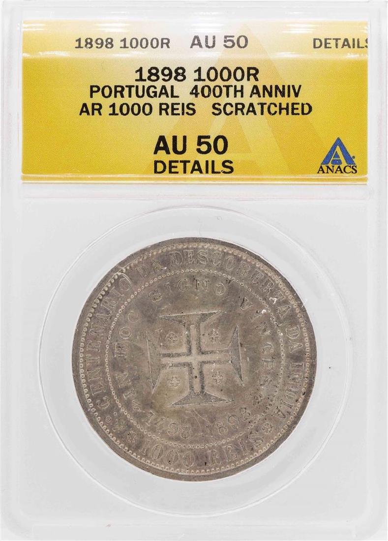1898 Portugal 1000 Reis 400th Anniversary Silver Coin