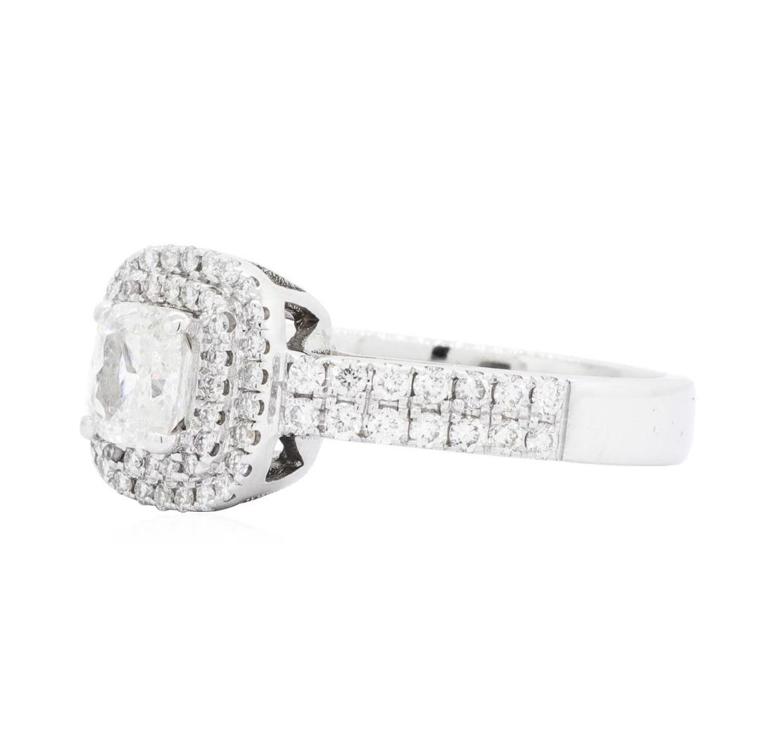 14KT White Gold 1.45 ctw Diamond Ring - 2