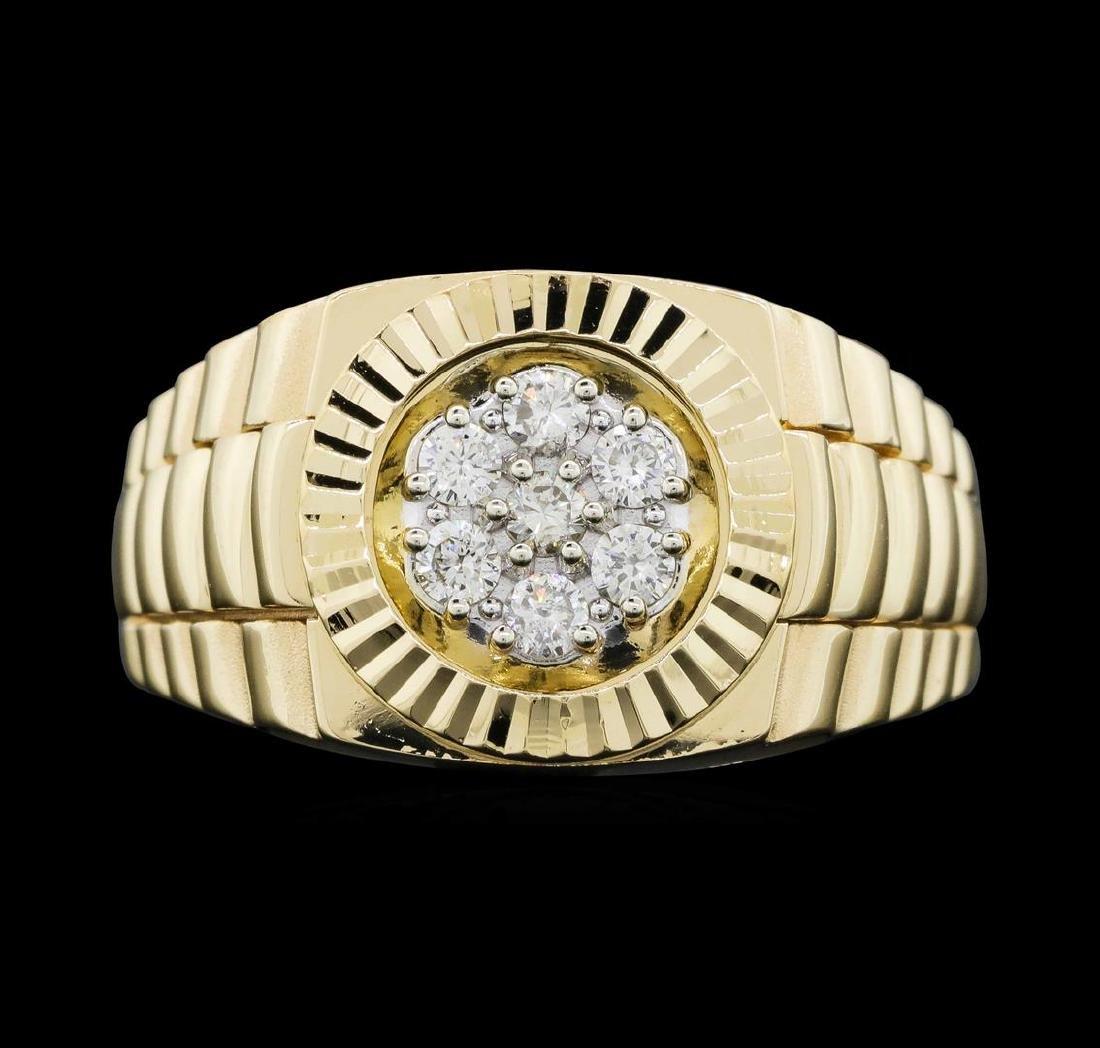 14KT Yellow Gold Ladies 0.30 ctw Diamond Ring