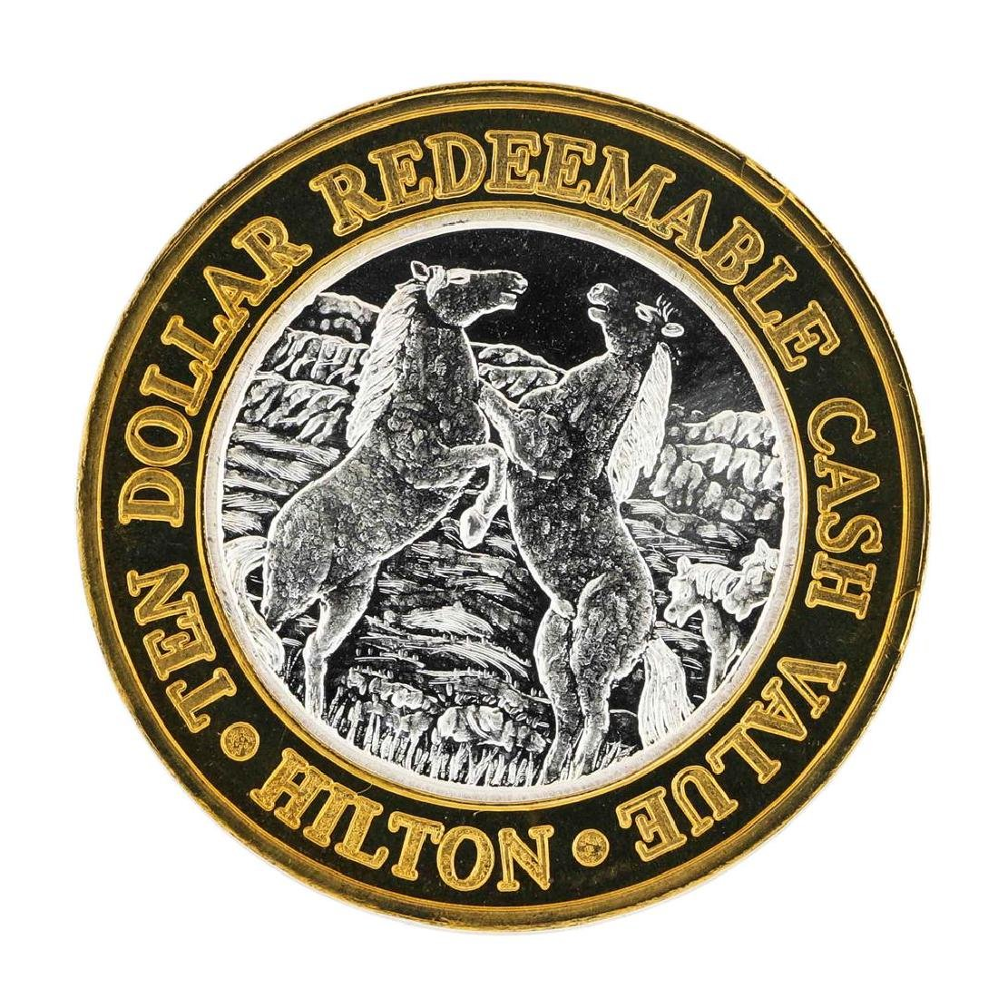 .999 Silver Reno Hilton Nevada $10 Casino Limited