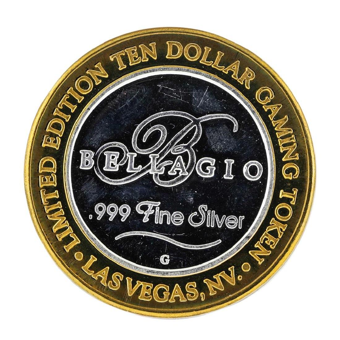 .999 Silver Bellagio Las Vegas, NV $10 Casino Limited