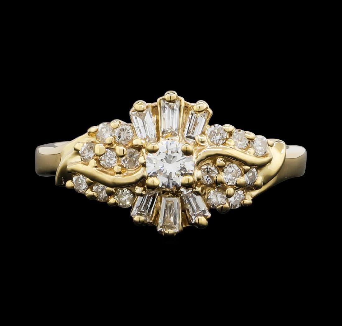 10KT Yellow Gold 0.65 ctw Diamond Ring