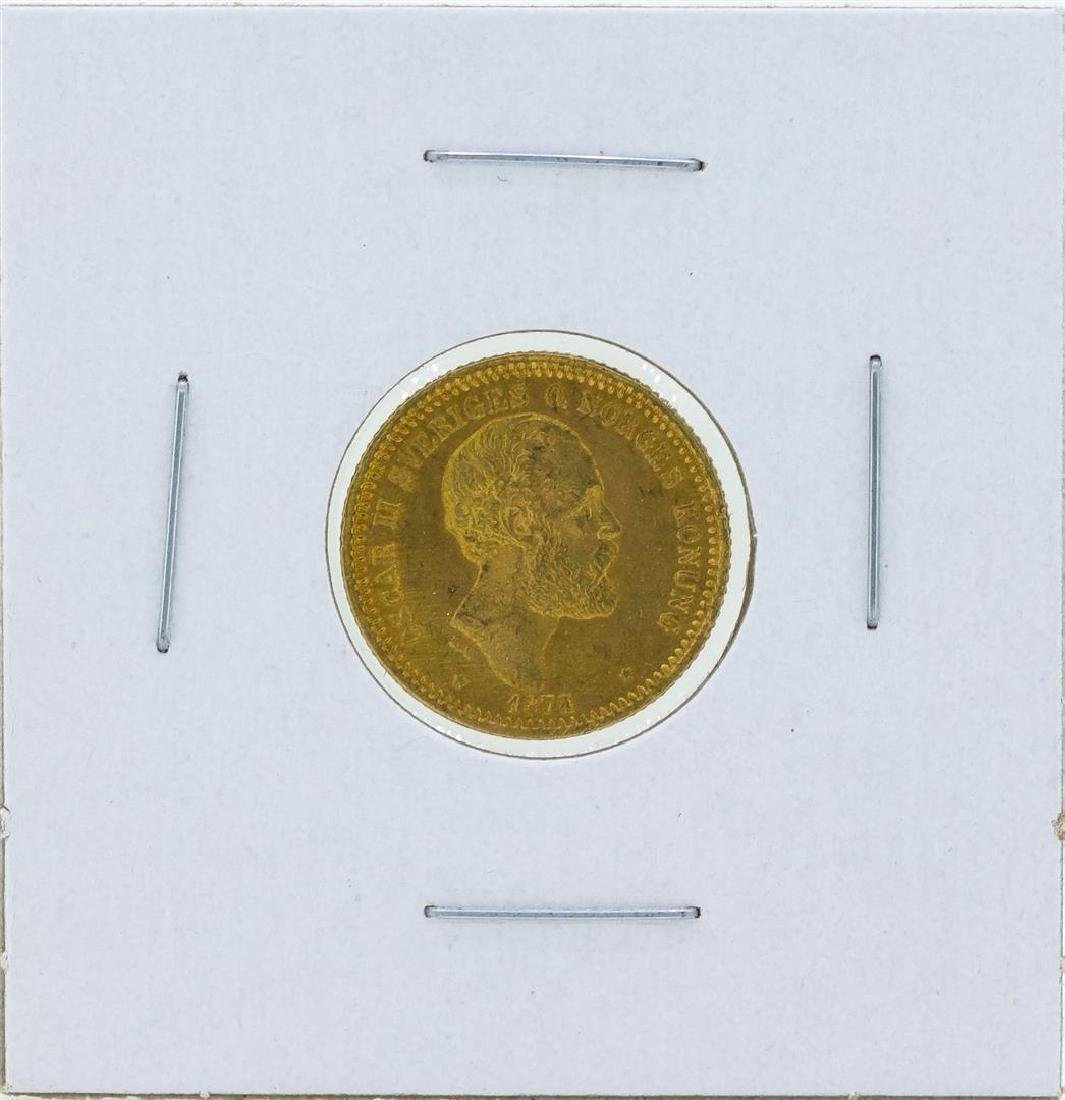 1874 Sweden 10 Kronor Gold Coin