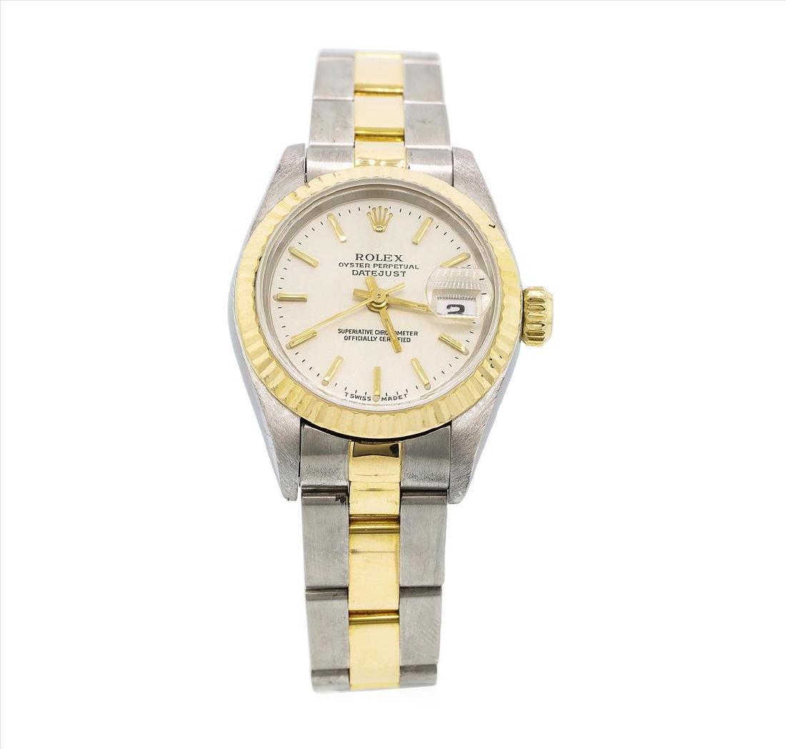 Rolex 18KT Two Tone Gold Datejust Ladies Wristwatch