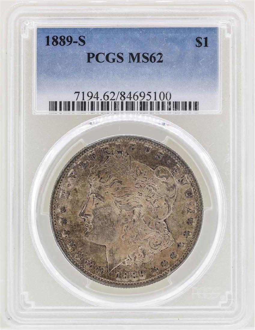 1889-S $1 Morgan Silver Dollar Coin PCGS MS62