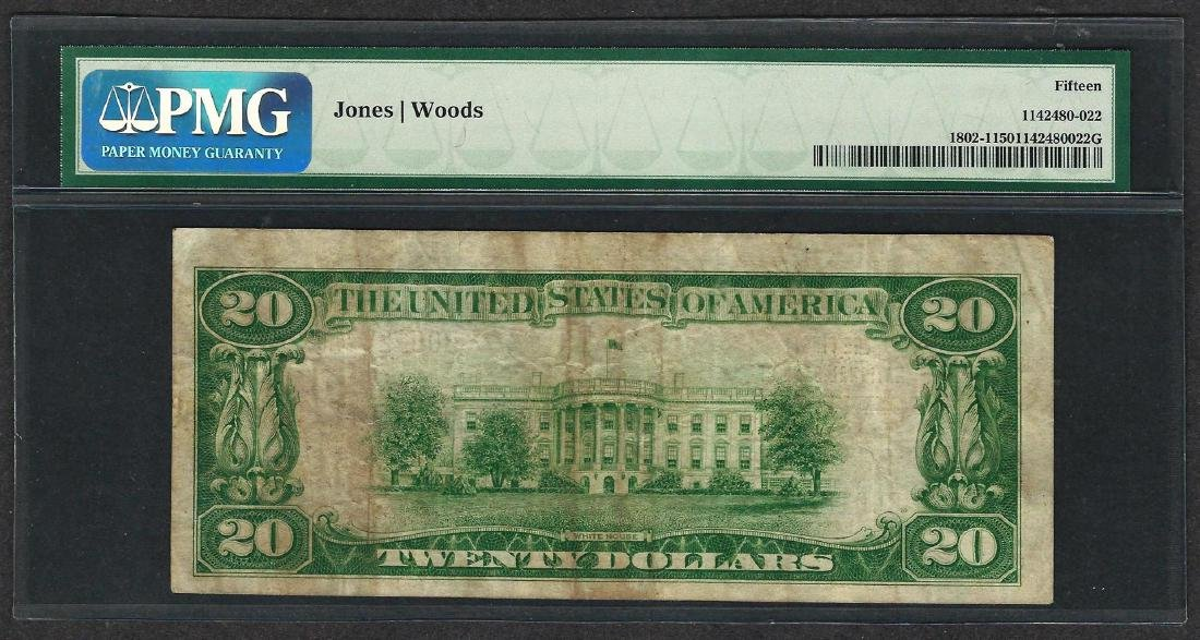 1929 $20 National Currency Note Johnstown, Pennsylvania - 2