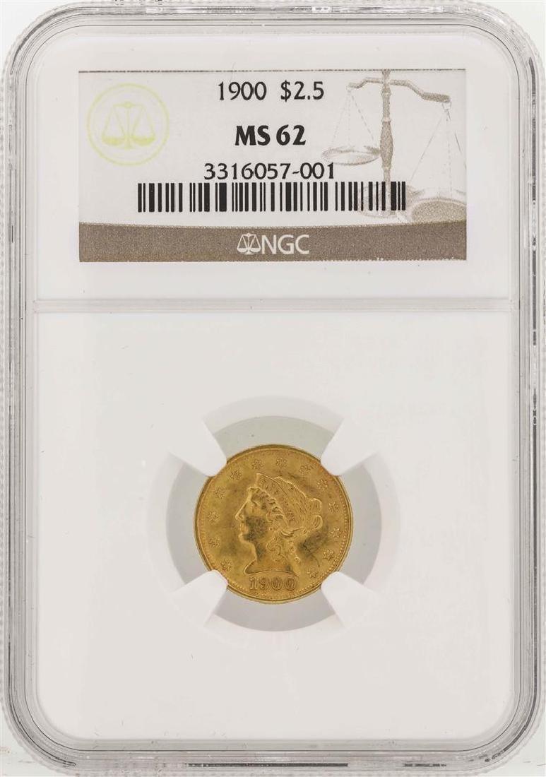 1900 $2 1/2 Liberty Head Quarter Eagle Gold Coin NGC