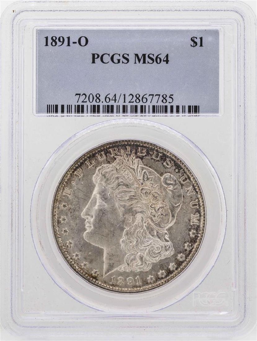 1891-O $1 Morgan Silver Dollar Coin PCGS MS64
