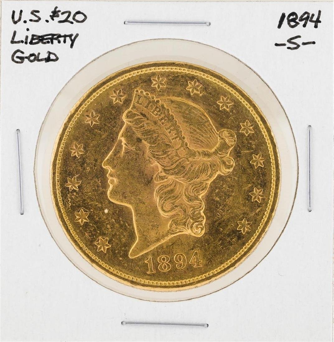 1894-S $20 Liberty Head Double Eagle Gold Coin