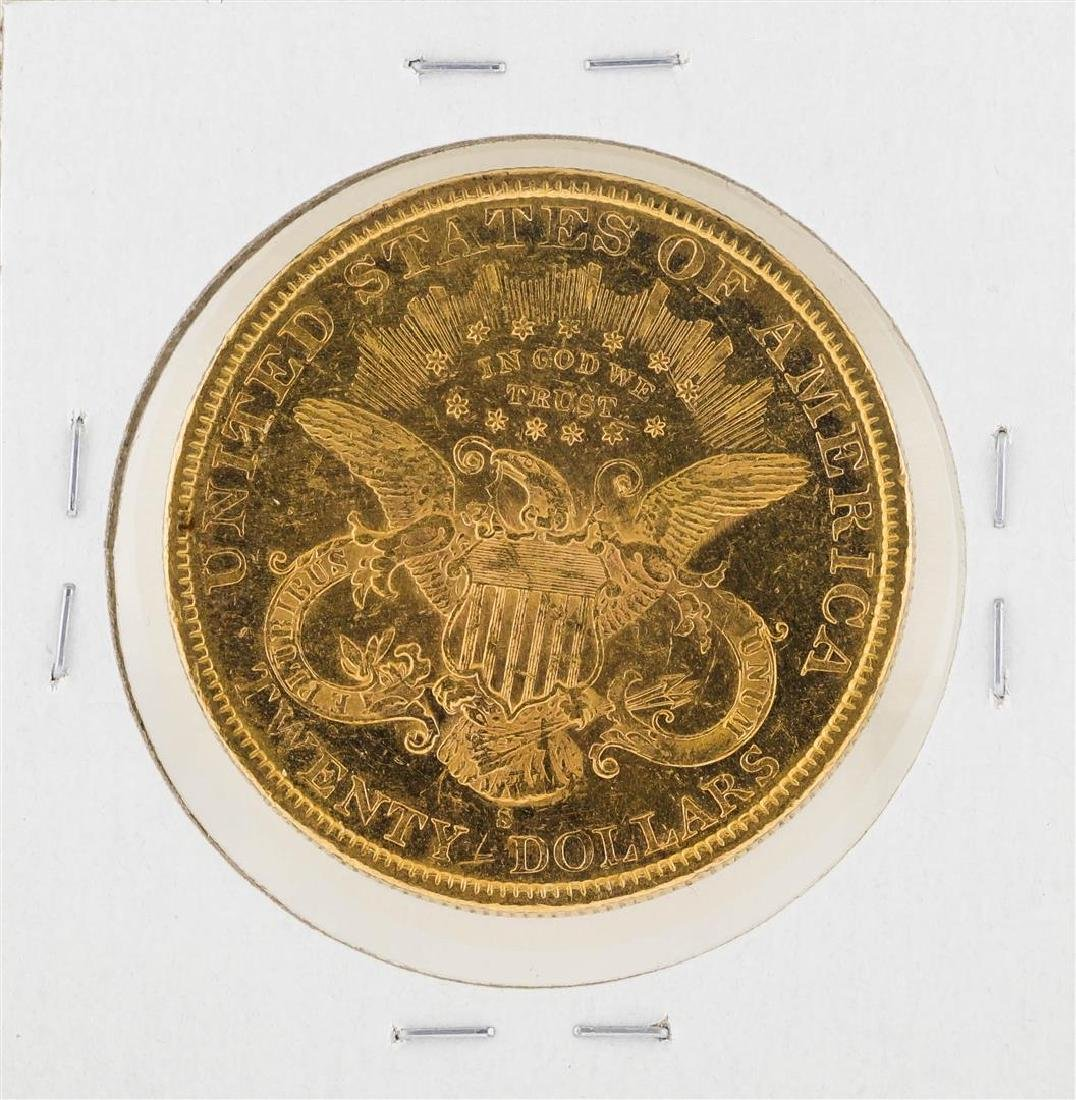 1894-S $20 Liberty Head Double Eagle Gold Coin - 2