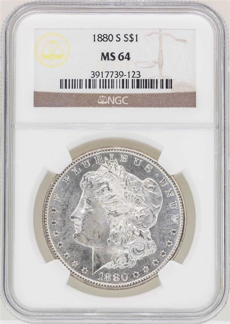 1880-S $1 Morgan Silver Dollar Coin NGC MS64