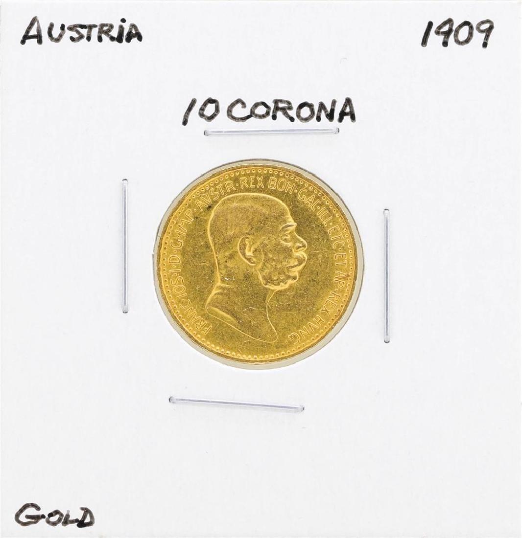 1909 Austria 10 Corona Gold Coin