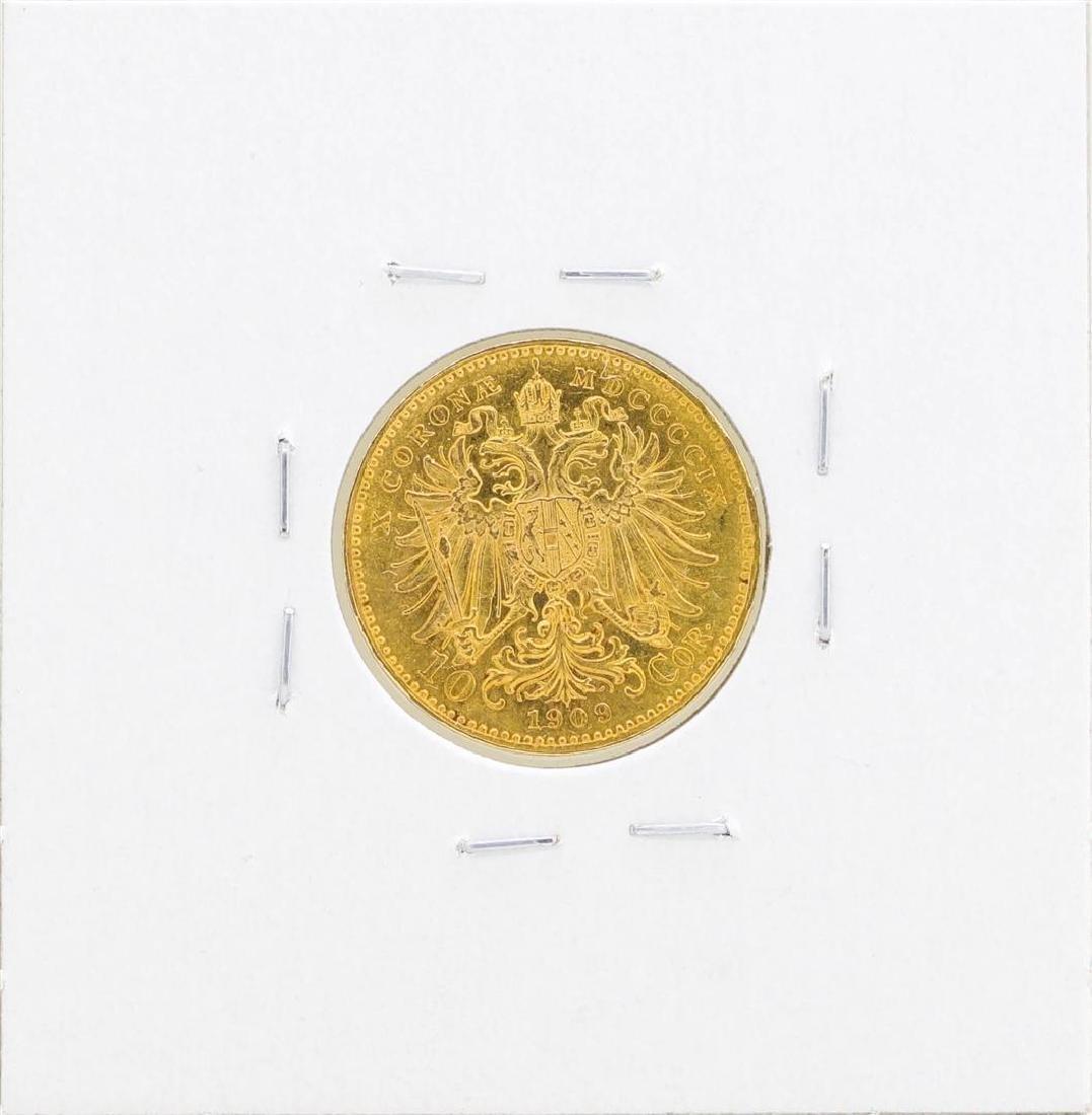 1909 Austria 10 Corona Gold Coin - 2